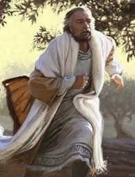 The father in the parable of the prodigal son, running to meet his wayward boy.